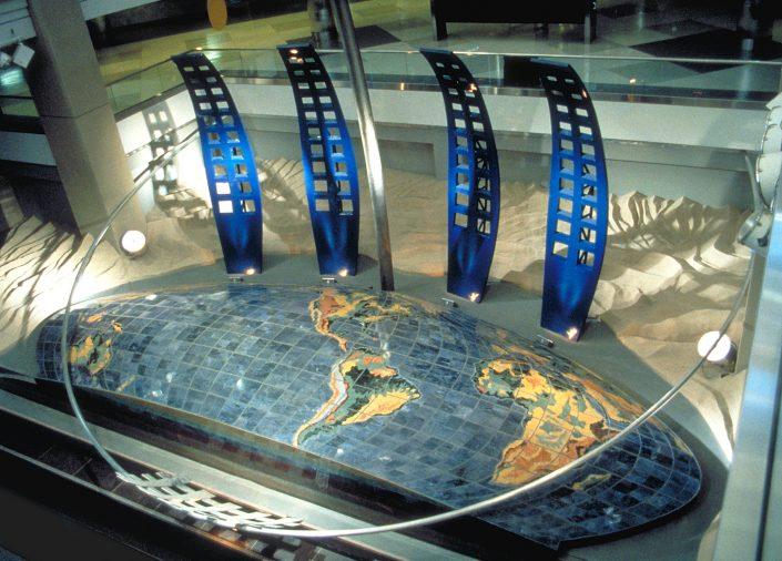 Dual Meridian Public Art Denver-Airport Sculptural Installation