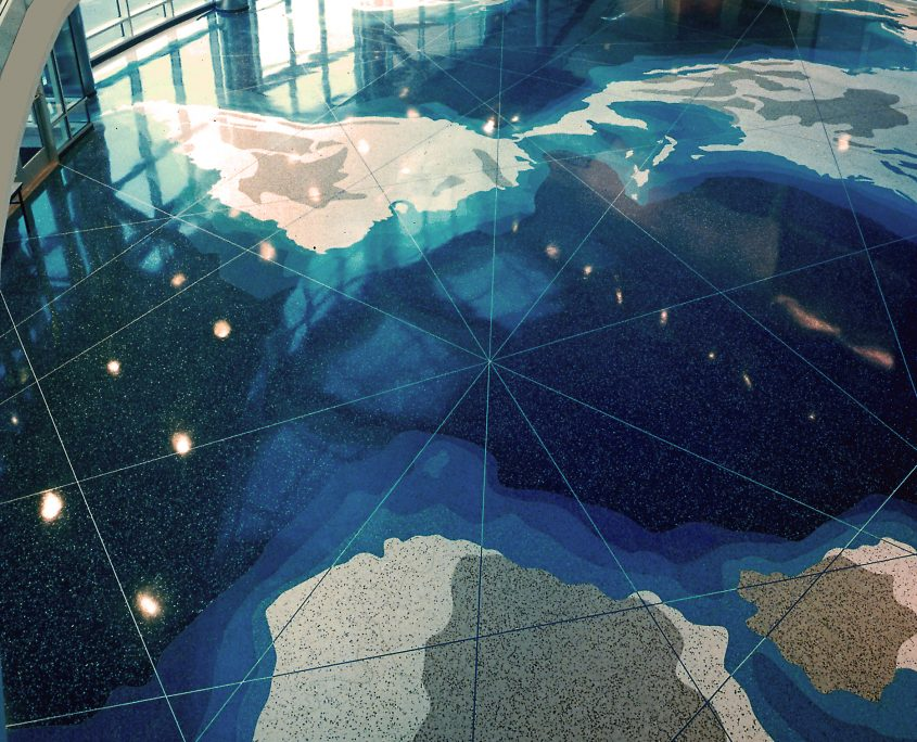 David Griggs Cable Navigation Terrazzo Floor Map