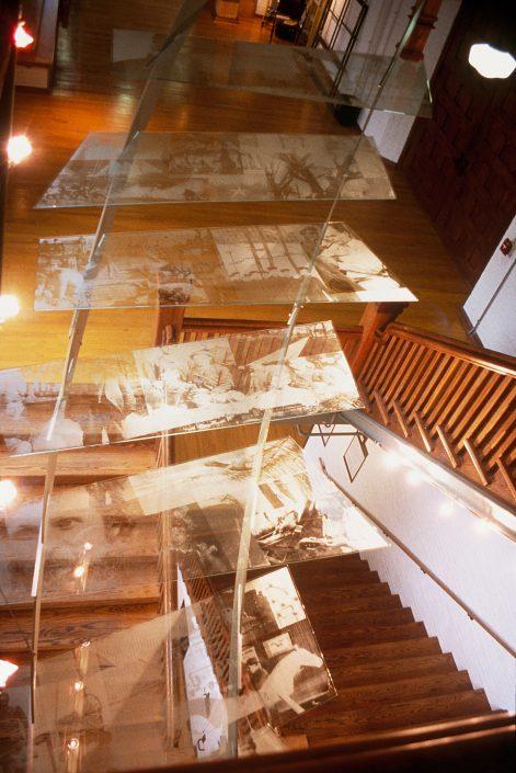 David Griggs Ghost Steps Suspended Atrium Art Glass