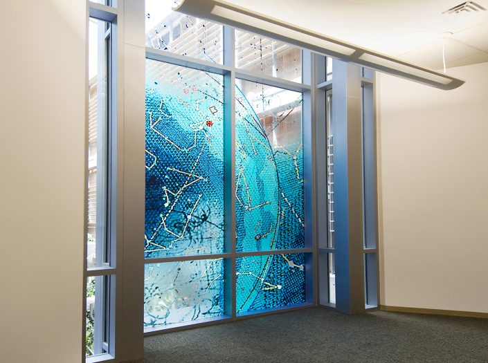 David Griggs Verve Art Glass Installation