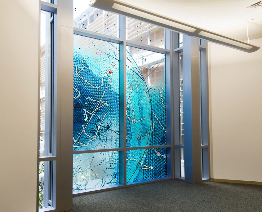 David Griggs Verve Art Glass Installation
