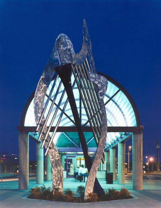 David Griggs Windharp Sound Sculpture Transit Dallas