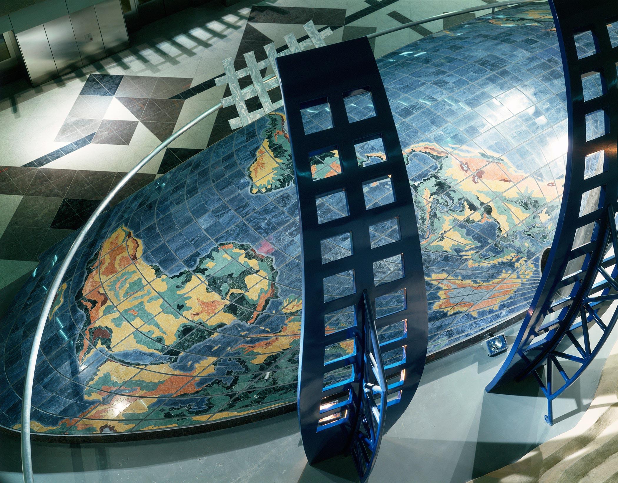 David Griggs Dual Meridian Sculpture Atrium Denver Airport